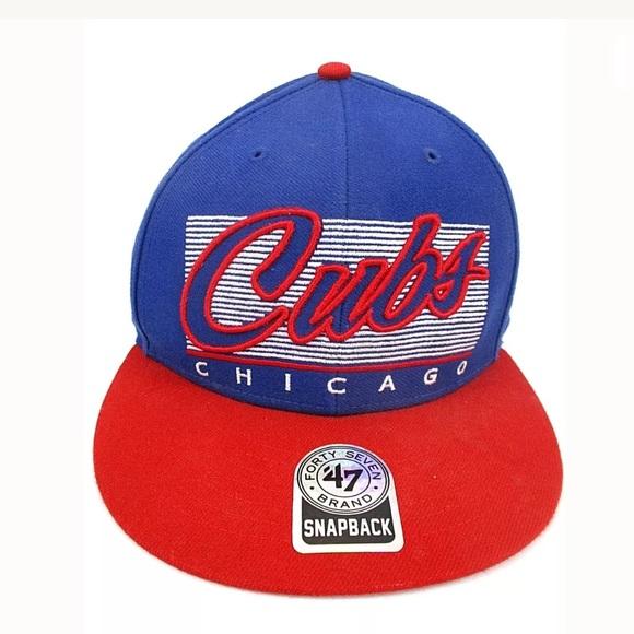0d10d4afec6 47 Other - Chicago Cubs Baseball Cap Hat 47 Blue Red Snapback